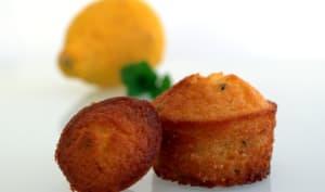 Mini moelleux citron menthe