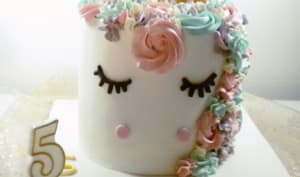 La gâteau licorne de Marion