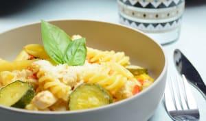 One pot pasta poulet courgette et poivron
