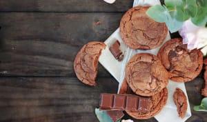 Cookies tout chocolat à la pâte à tartiner