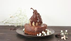 Cheesecake au chocolat et à la poire
