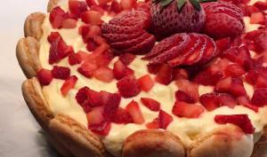 Tiramisù glacé aux fraises