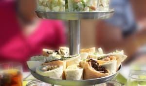 Wrap salade de thon, oeufs, mayonnaise, olives noires