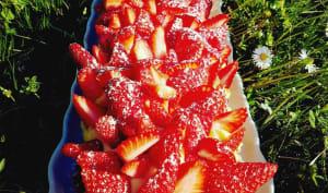 Tarte aux fraises sur biscuit breton