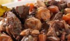 Poitrine de veau accompagnée de carottes au cookeo