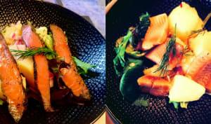 Salade de pommes de terre en deux versions