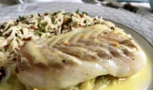 Cabillaud basse température et sauce au beurre blanc