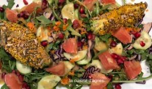 Salade d'avocats aux graines