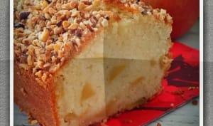 Gâteau au yaourt aux pommes et noisettes