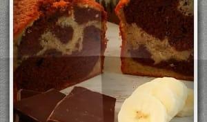 Marbré banane et chocolat