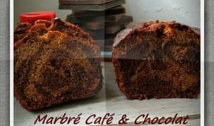 Marbré café et chocolat