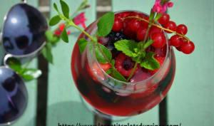 Mocktail aux fruits rouges