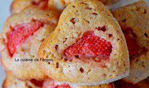 Muffin aux fraises et amandes