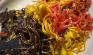 Spaghettis colorés