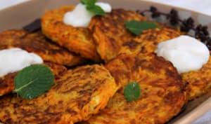 Galettes de carottes et courgettes