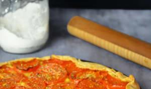 Tarte rustique tomate moutarde