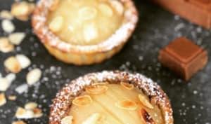 Tartelettes à la poire, coeur gianduja