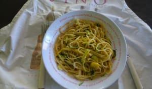 Linguine aux courgettes et citron de Jamie Oliver