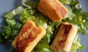 Rouleaux jambon fromage croustillants