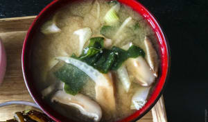 Soupe miso, fenouil et shiitake