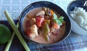 Curry de poisson aux légumes