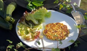 Galettes de quinoa, courgettes et basilic