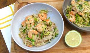 Crevettes comme un pad thaï