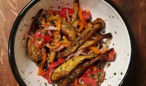 Salade d'aubergines rôties à la Ottolenghi