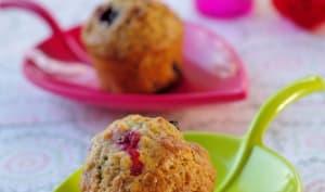 Minis muffins muesli et fruits rouges
