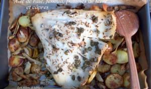 Aile de raie au fenouil, pommes de terre et câpres