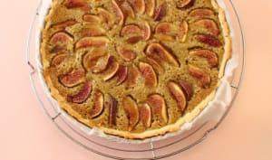 Tarte figues et crème de pistache