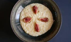 Riz au lait à la fève Tonka. Figues parfumées.