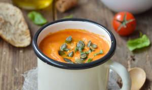 Velouté express aux tomates et pois chiches