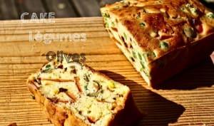Cake léger aux légumes et olives