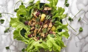 Salade d'artichauts violets crus et pommes de terre nouvelles