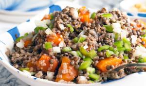 Salade lentilles et courge