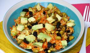 Salade de quinoa carotte edamame abricots secs