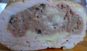 Rôti de dinde farci au veau et mozzarella