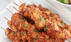 Brochettes de poulet, marinade au paprika
