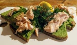 Bruschetta de saumon au pesto