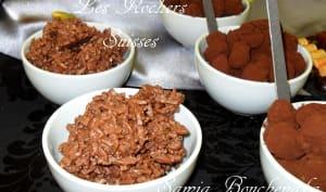 Rochers suisses au chocolat