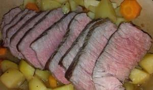 Rôti de bœuf en cocotte aux légumes
