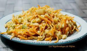 Blé sauté aux carottes et poivron