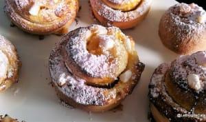 Brioches escargot à la compote de prunes