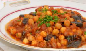Ragoût de pois chiches, aubergine et crème Soignon