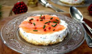Cheesecake au saumon fumé