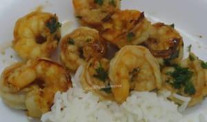 Crevettes marinées à l'ail