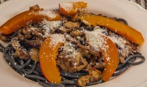 Spaghetti aux cèpes et au potimarron