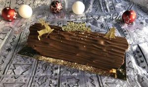Bûche vanille chocolat