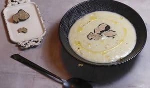 Crème d'artichaut aux truffes